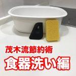 【茂木流節約術】食器洗い編