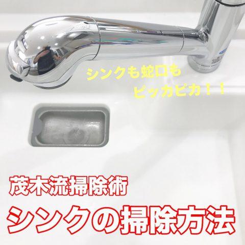 【茂木流掃除術】シンクの掃除方法
