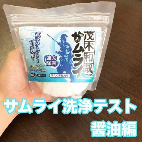 サムライ洗浄テスト 醤油編